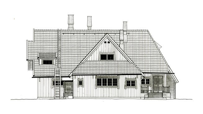 Architectural Facades Drawings East Façade Scale Drawing