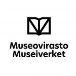 Museoviraston mustavalkoinen logo
